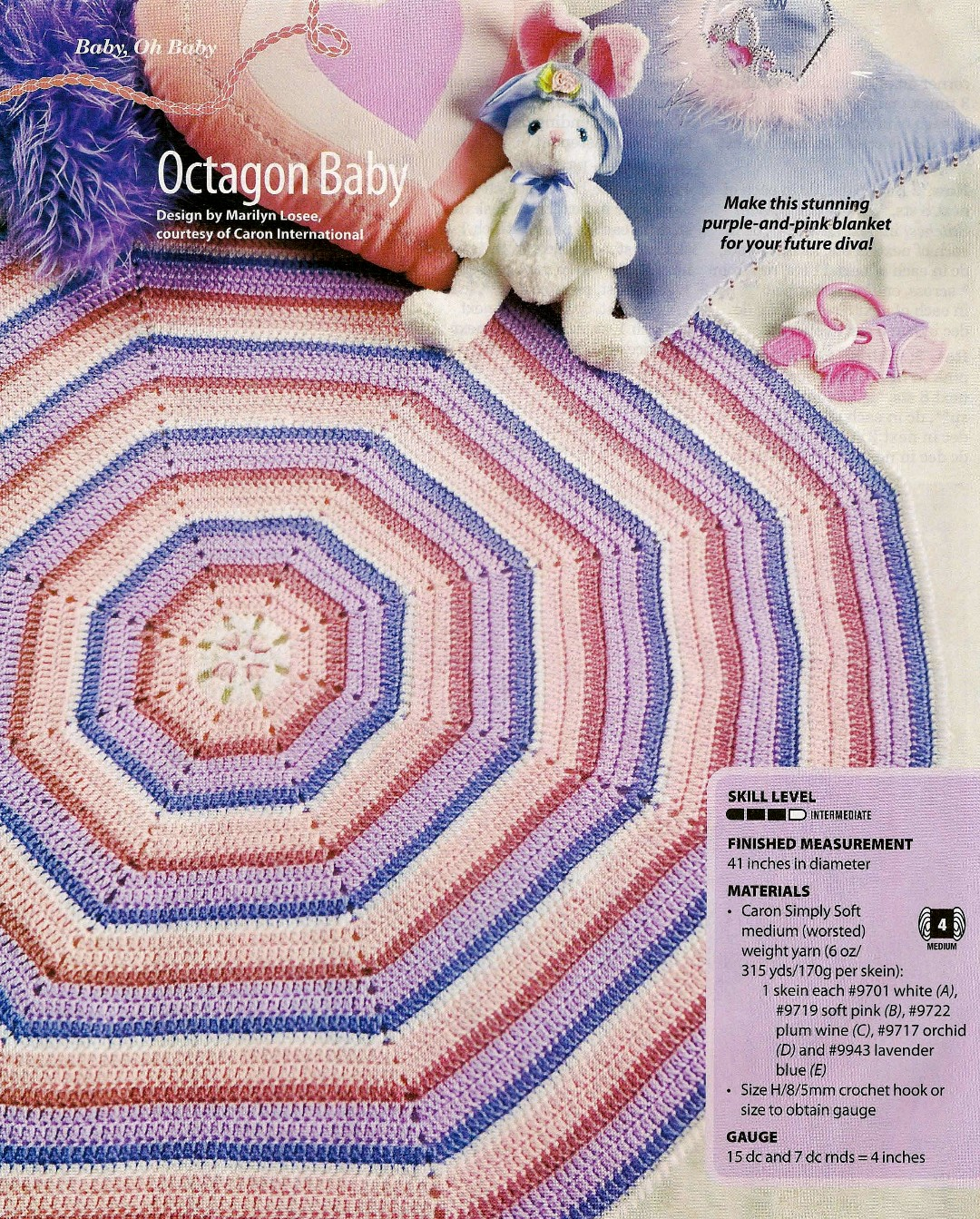 Octagon Baby Afghan Crochet Pattern : Aran Afghan Free Pattern Patterns Gallery