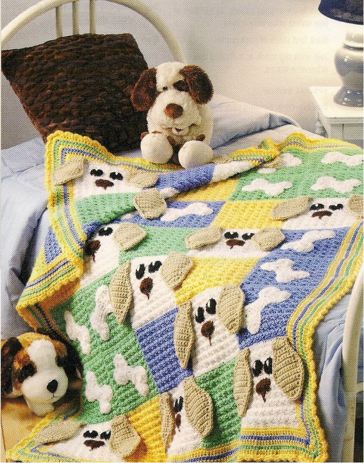Free Knitting Pattern Dog Blanket : Crochet The Caron Notebook Page 10