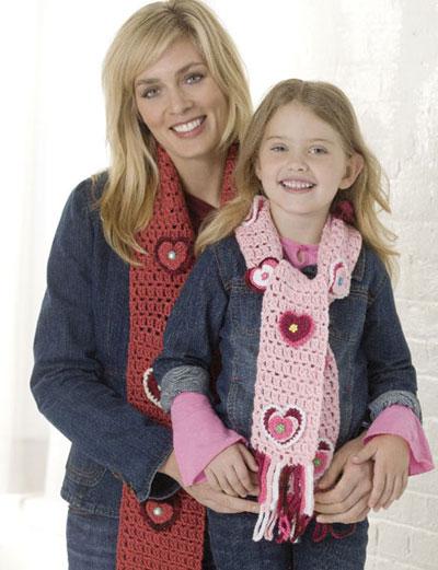 Valentine Scarf Duo (crochet)