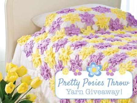 Pretty Posies Throw Yarn Giveaway!