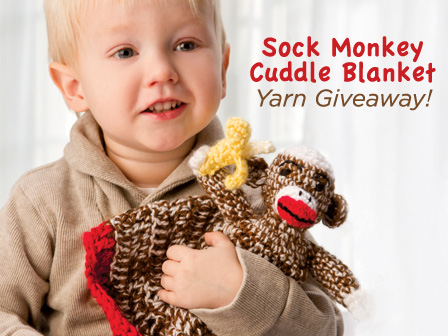 Free Yarn Giveaway: Sock Monkey Cuddle Blanket